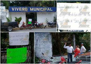 Trabajadores toman el vivero municipal de tuxtepec for Vivero municipal