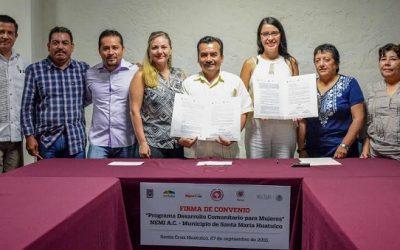 Gobierno de Huatulco y Fundación NEMI A.C. firman convenio de colaboración