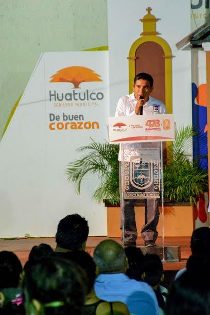 Celebra Gobierno Municipal el 478 Aniversario de la Titulación de Santa María Huatulco