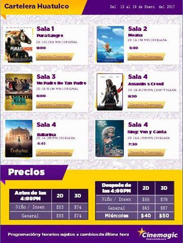 Cartelera Cine Magic