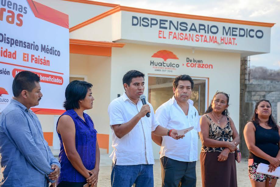 Inaugura José Hernández Dispensario Médico en comunidad El Faisán
