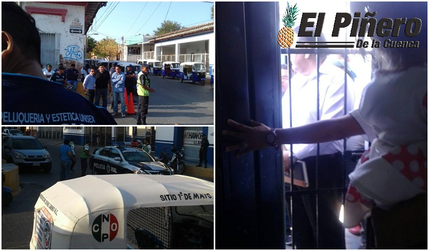 Mototaxistas secuestran' a menores