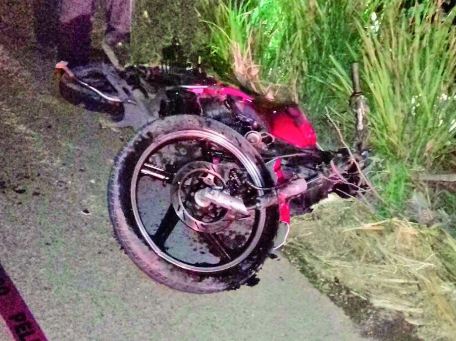 Derrape de motocicleta en la erradura