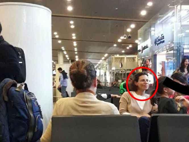 Exhiben foto de Karime Macías en aeropuerto; se iría a Londres