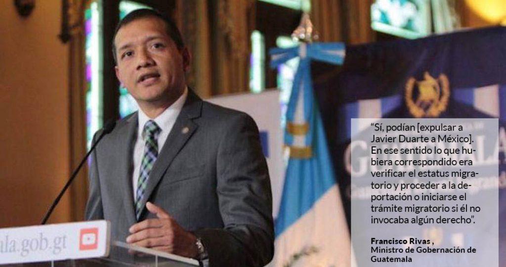 Si México hubiera querido, Duarte estaría allá, deportado