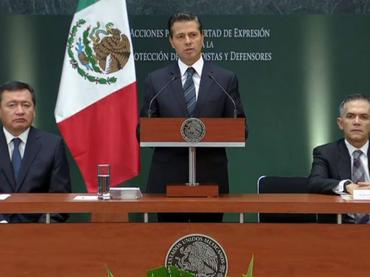 Peña Nieto anuncia acciones para proteger a periodistas