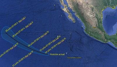 Fernada' se convierte en huracán categoría 3