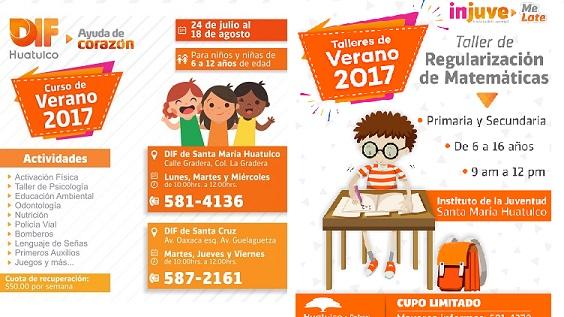 Gobierno de Huatulco ofrece cursos de verano para niños y jóvenes