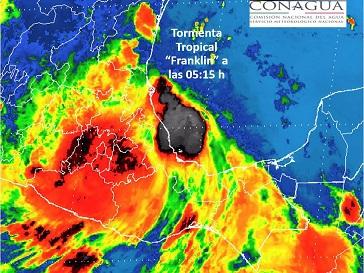 Franklin pierde fuerza, pero provocará tormentas torrenciales en 8 estados