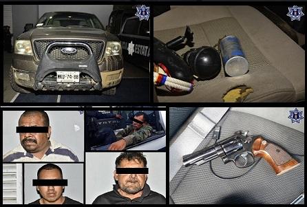Policia estatal detiene a 5 armados