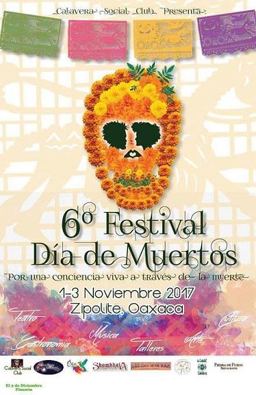 Zipolite celebra el 6 festival día de muertos 2017