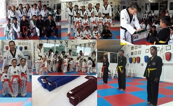 La Escuela de Guerreros Indomables celebro el Examen de Tae Kwon Do