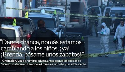 AUDIOS desmienten a policías en Temixco: sí les dijeron que había niños.