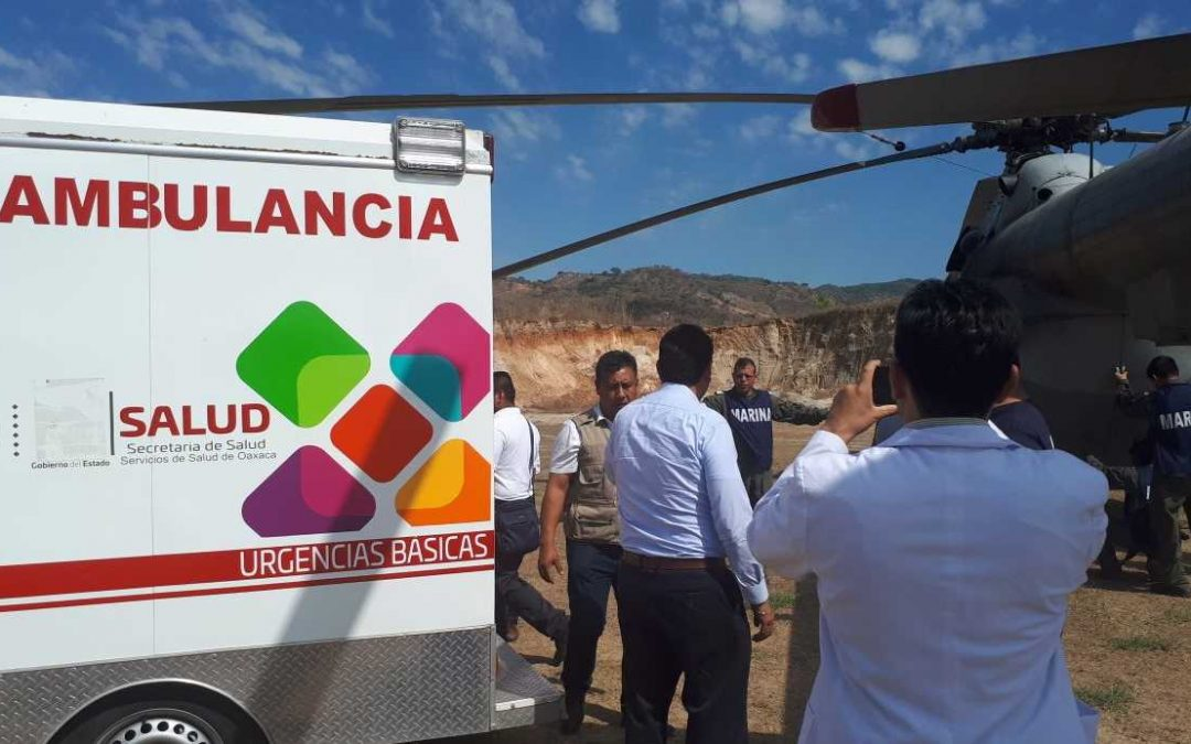 Atiende sector salud a heridos por sismo y accidente aéreo