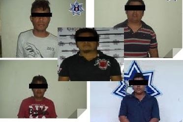 Detiene SSPO a cinco sujetos por diversos delitos;