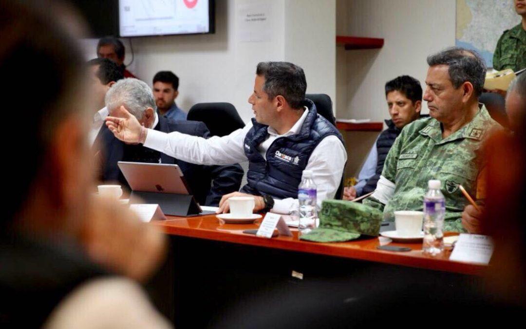 Instruye Gobernador AMH a su gabinete fortalecer atención a damnificados por sismo en la Costa