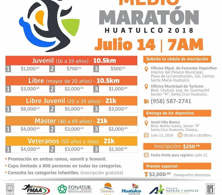Medio maratón Huatulco 2018