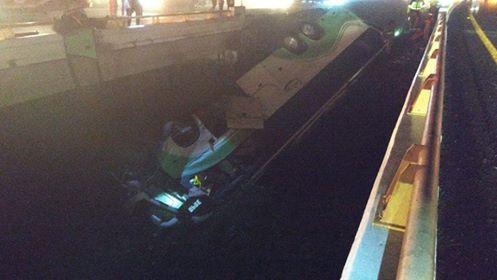 40 lesionados volcadura de un autobús en autopista Guadalajara – Morelia