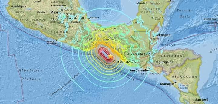 Terremoto 8.2 del 2017 en méxico, equivalente a 32 mil bombas atómicas.