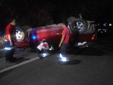 Aparatoso accidente en Huatulco