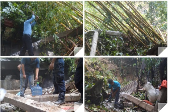 Atiende CEPCO deslizamiento de laderas en Candelaria Loxicha