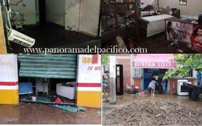 Grandes daños por el paso de tormenta tropical Vicente en Huatulco