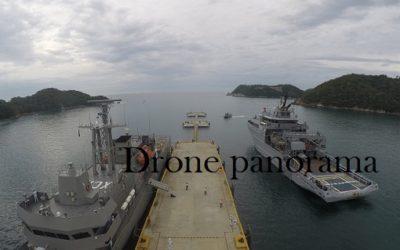 Atraca un buque de la Armada Francesa en Huatulco
