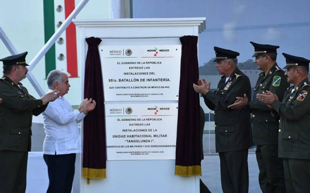 Inauguran 98° Batallón de Infantería en Huatulco