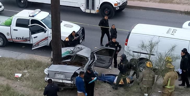 Accidente vial deja un hombre muerto en Juárez