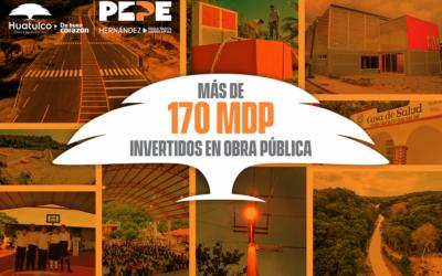 Inversion en obra publica del gobierno municipal de Huatulco
