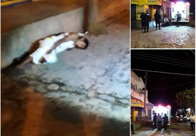 Balean a sujeto en el centro de Santa María Huatulco, y muere
