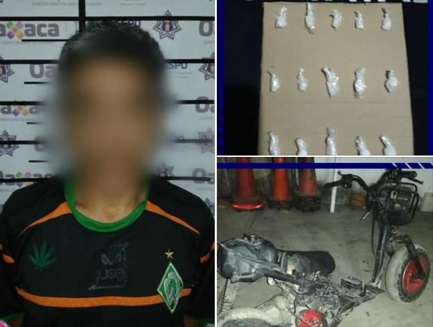Detienen a presunto narcomenudista en Bajos de Chila