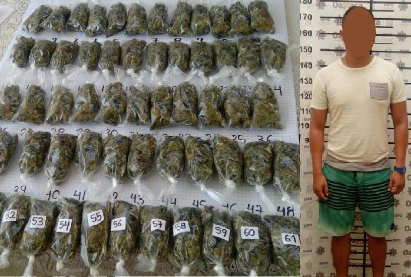 Detenido con mariguana en Colotepec