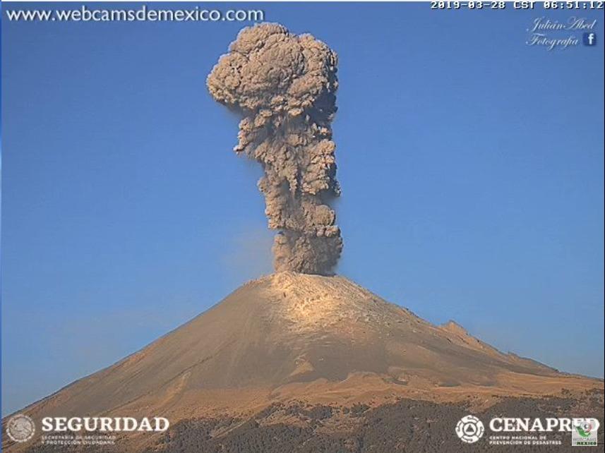 Modificó la alerta volcánica del Popocatépetl de amarilla fase dos,amarilla fase 3,
