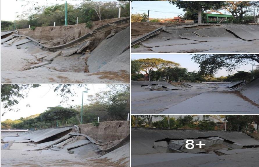 Sigue Fonatur sin reparar daños en canal pluvial de Huatulco