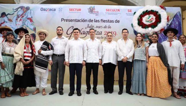 """Realiza Alejandro Murat presentación de las fiestas de""""Julio, mes de la Guelaguetza 2019"""""""