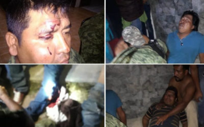 Pobladores atacan a soldados tras presunto saqueo de tren en Qro.