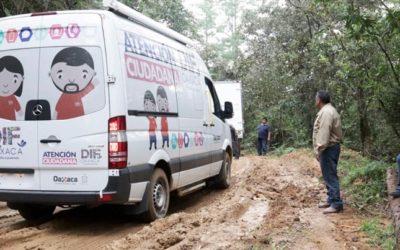 Cumplimos la instrucción gubernamental: Caravana DIF llegó a la Sierra Norte