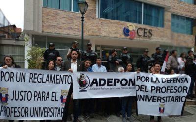 Docentes de las universidades de Quito a la Min. de Gobierno y al Min. de Defensa ante el ataque a las ZONAS DE PAZ de la ciudad