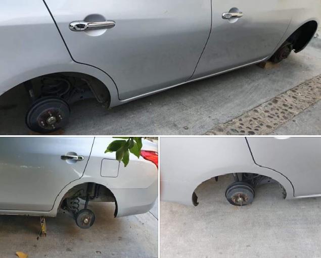 Ya comienzan a operar ladrones de autopartes en Huatulco