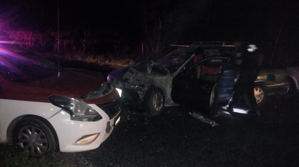 Aparatoso accidente en El Zapote, Huatulco