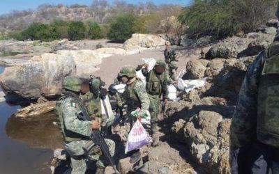 Detienen a presuntos delincuentes y arsenal en Guerrero
