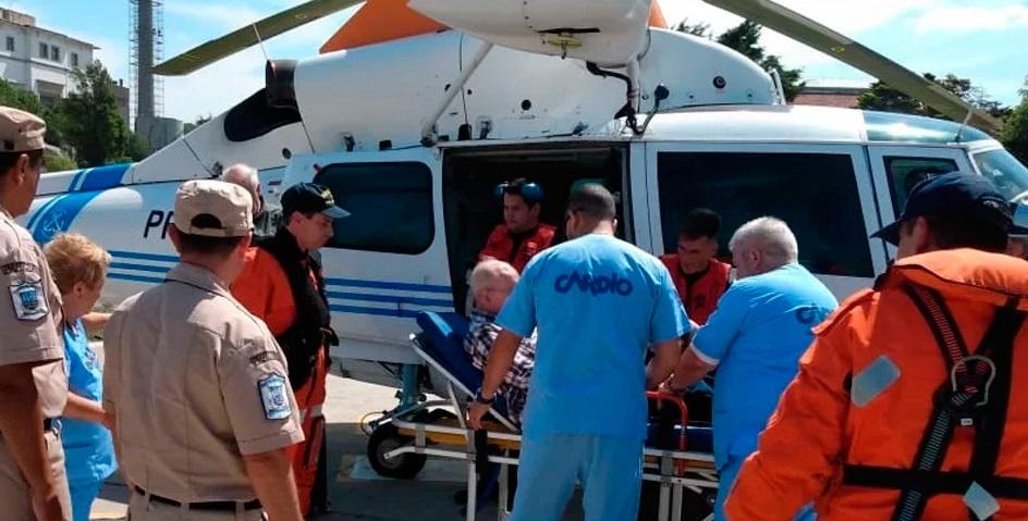 Emergencia en el mar: Prefectura aeroevacuó a dos pasajeros de un crucero