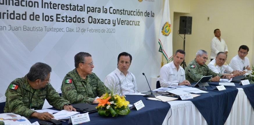 Unen esfuerzos Oaxaca y Veracruz contra la inseguridad en su frontera
