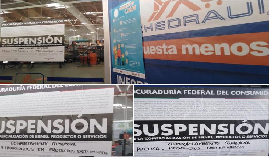 PROFECO coloca sellos de suspensión temporal a la tienda Chedraui y Abarrotes la Mexicana en Huatulco