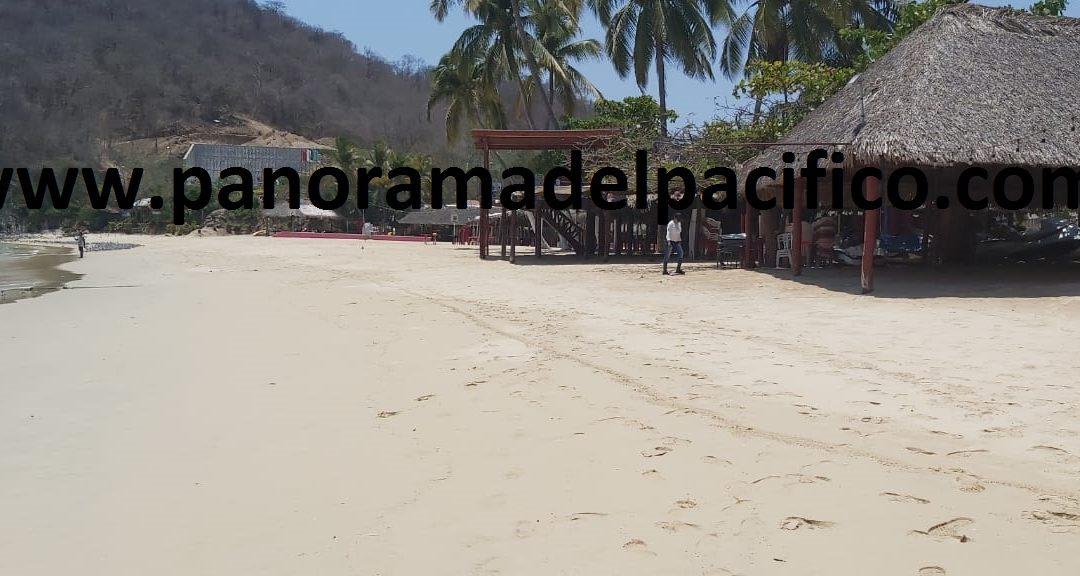 Hoteles y playas cerradas en Huatulco para prevenir el covid-19