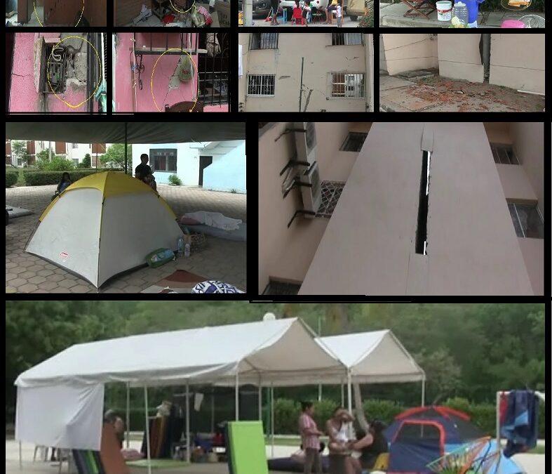 Habitantes duermen fuera de sus casas por los diversas replicas en Huatulco