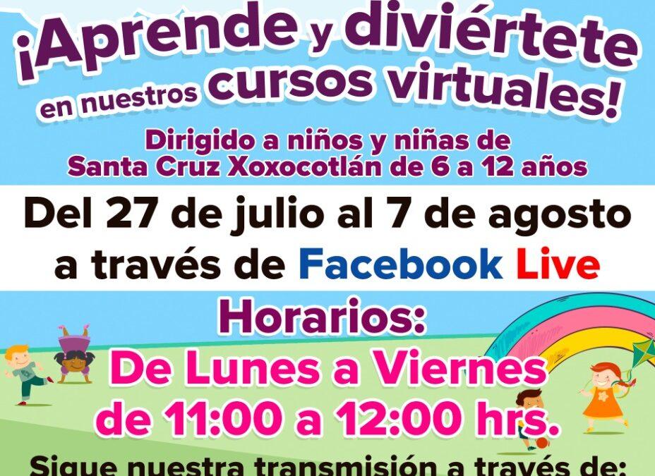 Invita DIF Municipal a la niñez xoxeña al Curso Virtual de Verano 2020