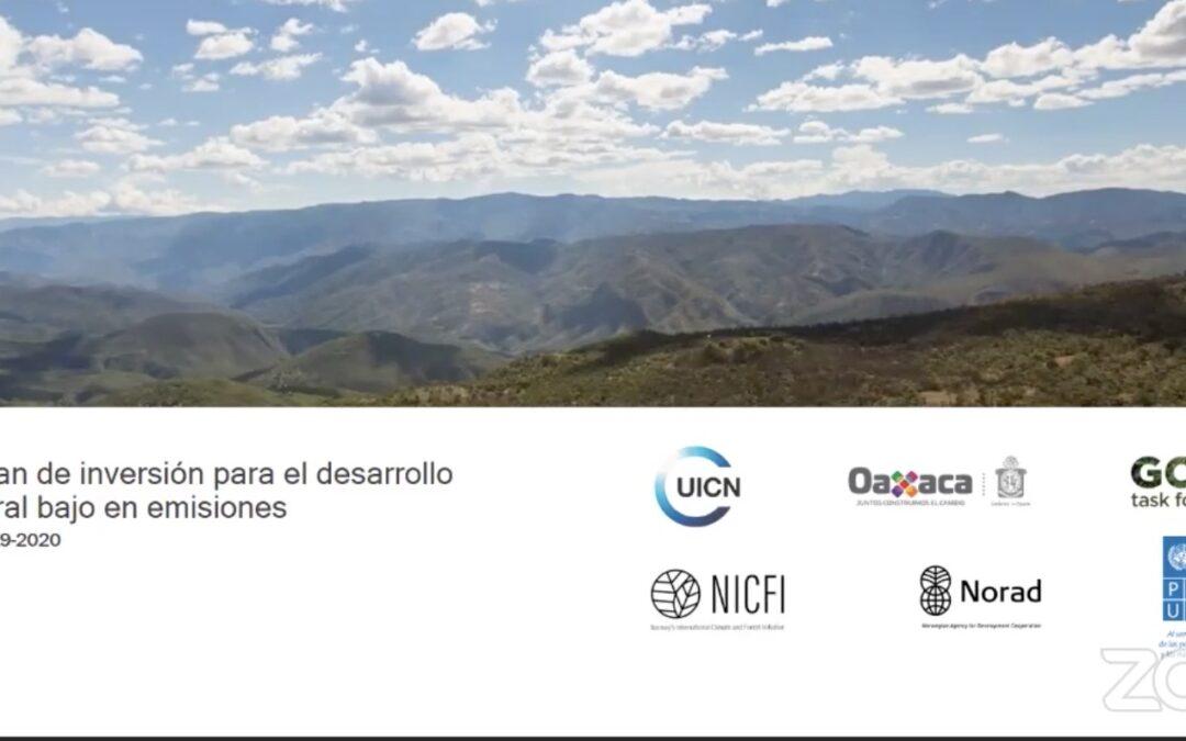 """Presenta Oaxaca resultados sobre el """"Plan de Inversión para  el Desarrollo Rural Bajo en Emisiones"""""""