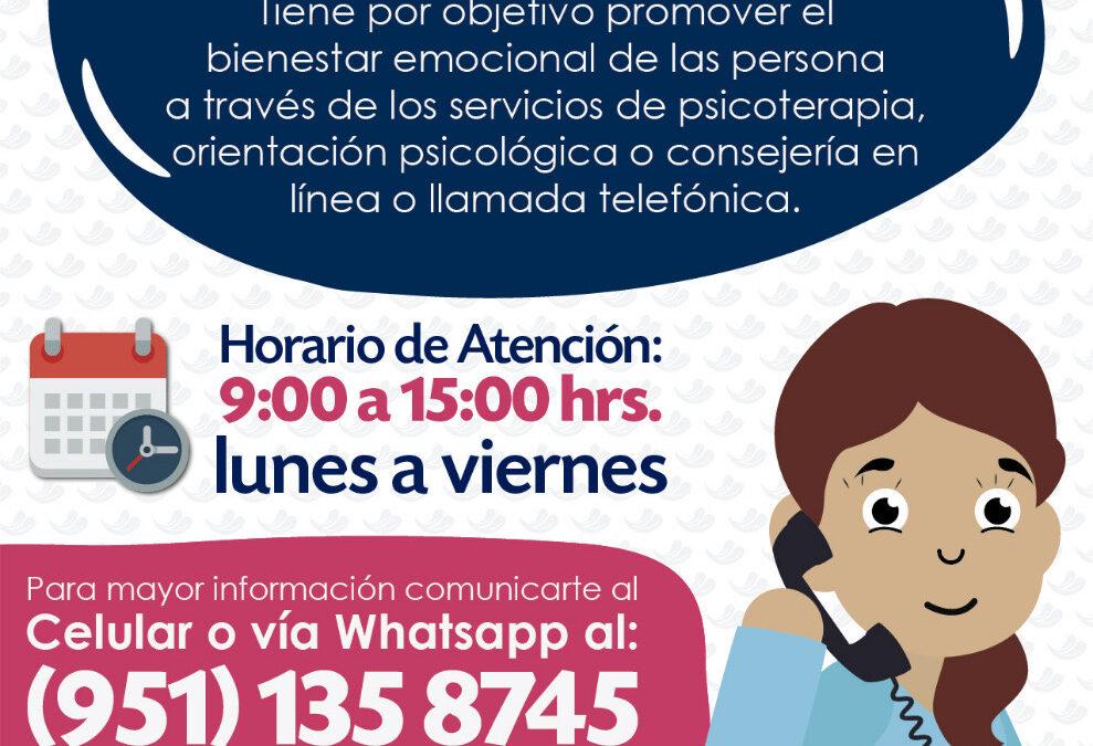 DIF Estatal Oaxaca promueve la atención psicológica a distancia